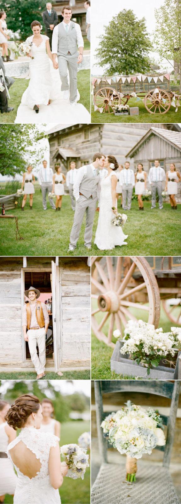 Ślub na powietrzu z piękną dekoracją