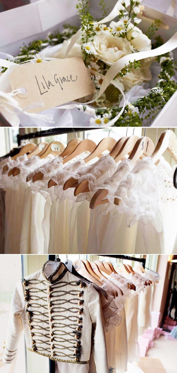 Kremowo morelowa paleta kolorów na ślubie
