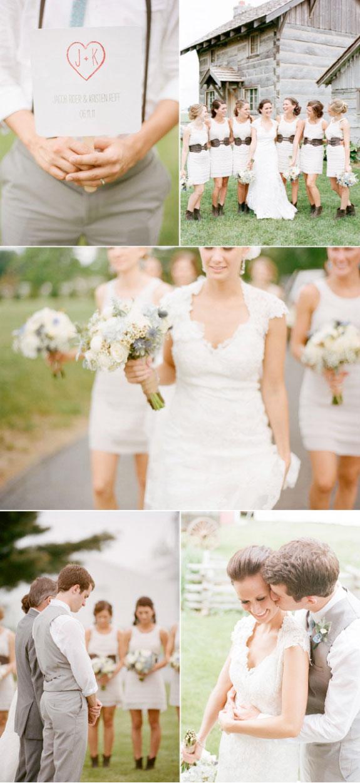 Pięknie zgrane detale na stołach ślubnych i wystroju sali