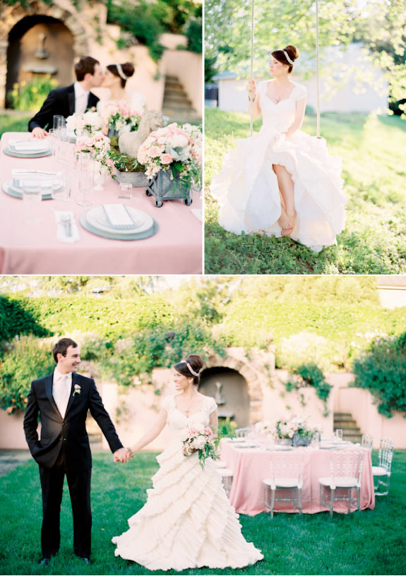 Ślub w Kolorystyce Różu i Szarości