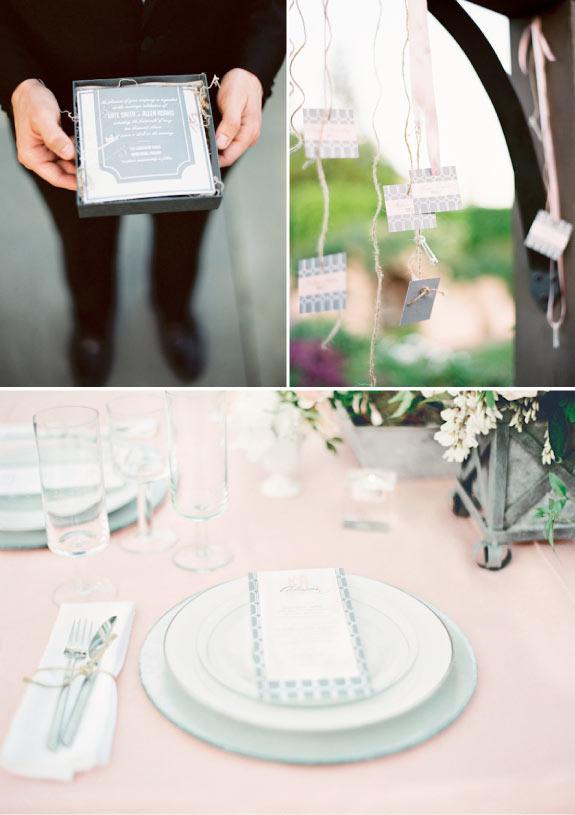 Piękna Papeteria Ślubna, Winietki, Zaproszenia, Menu na Stół