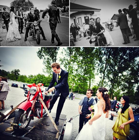 Prezent Weselny, Czerwony Motocykl Dla Pana Młodego w Prezencie