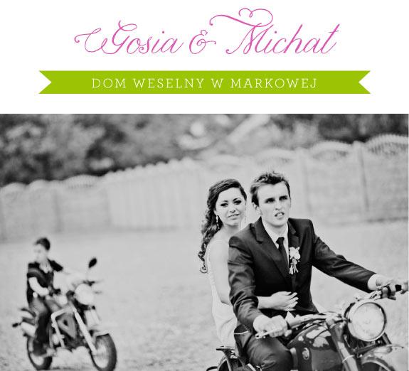 Ślub Gosi i Michała w Markowej