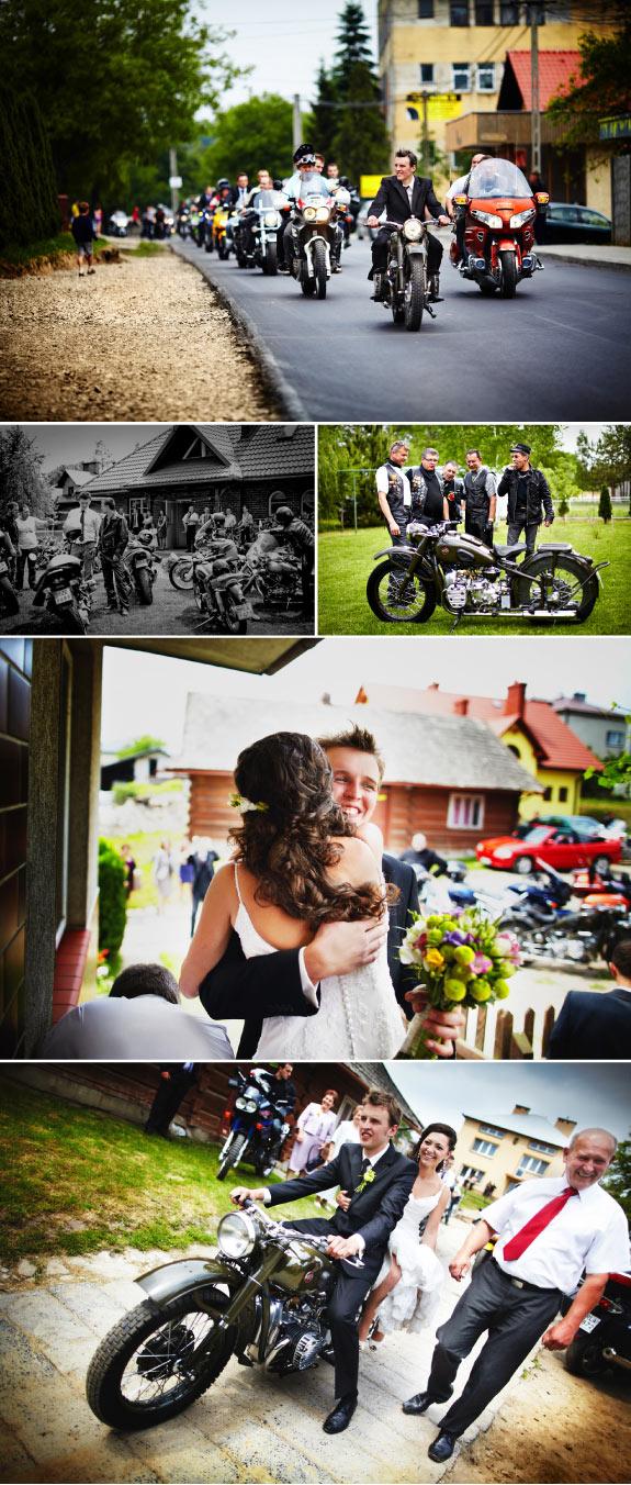 Pan Młody na Motocyklu do Ślubu