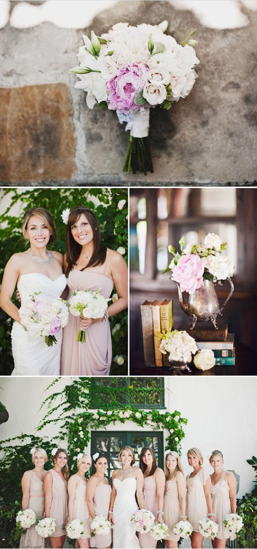 Bukiet Ślubny w delikatnych kolorach