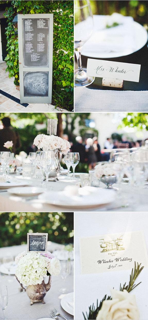 Pomysły na Dekoracje Stołów Ślubnych, Winietki na Stołach
