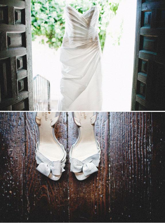 Biała Suknia Ślubna i Buty do Ślubu