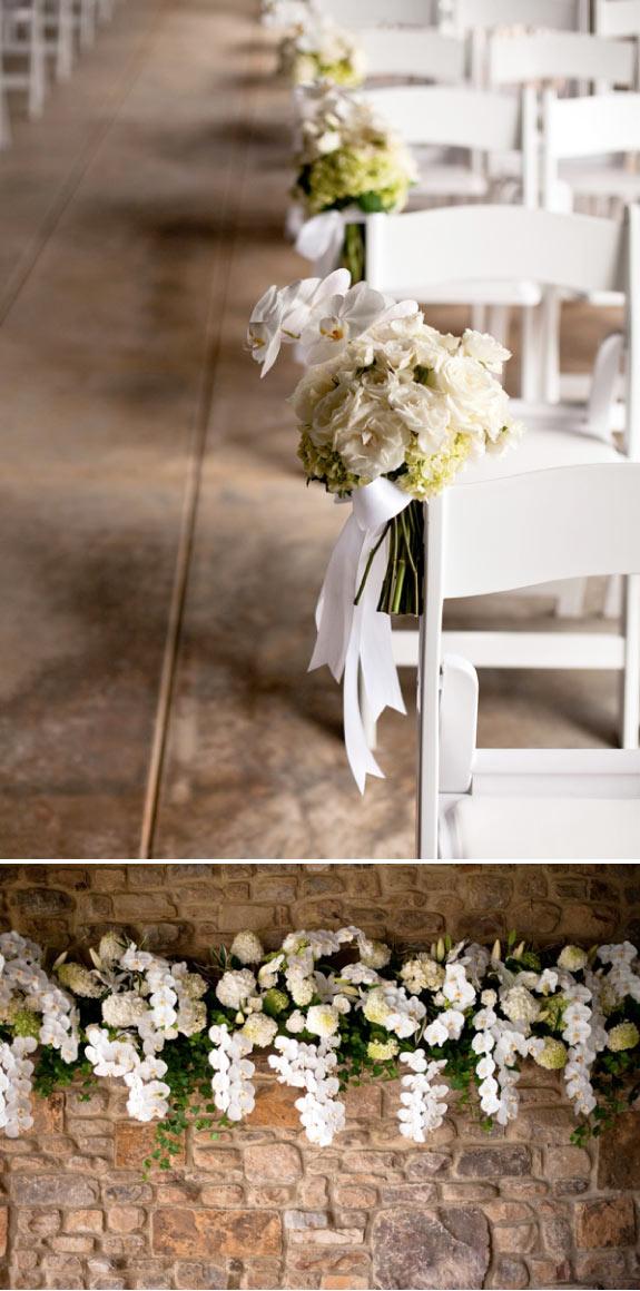 Dekoracje Krzeseł Kwiatami, Dekoracje z Kwiatów na Ścianach
