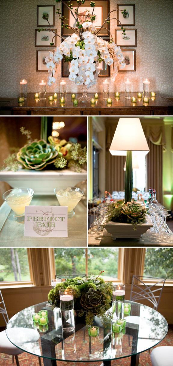 Romantyczne Dekoracja Stołów Ślubnych ze Świeczkami