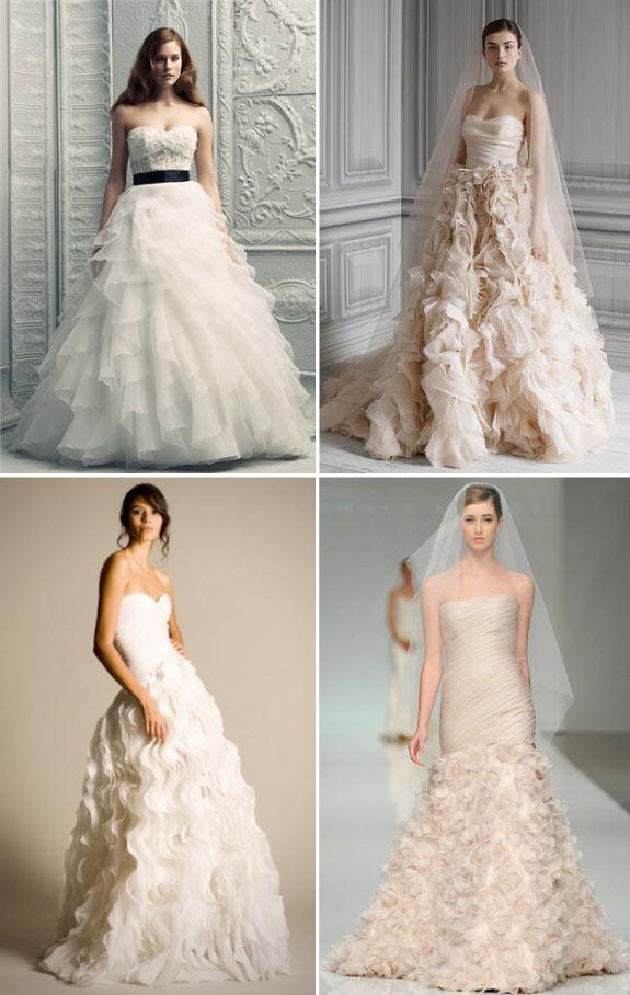 Suknie Ślubne, Pomysł na Suknie Ślubną z Falbankami
