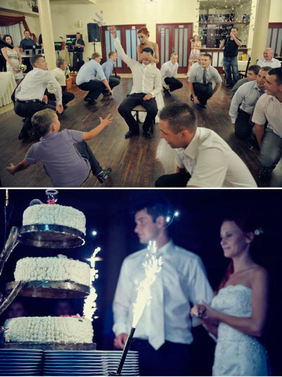 Tort Ślubny z Fajerwerkami