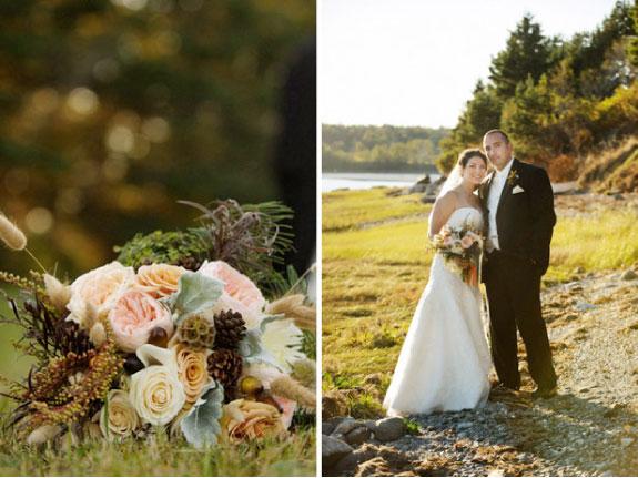 Ślub jesienią w stylu rustykalnym