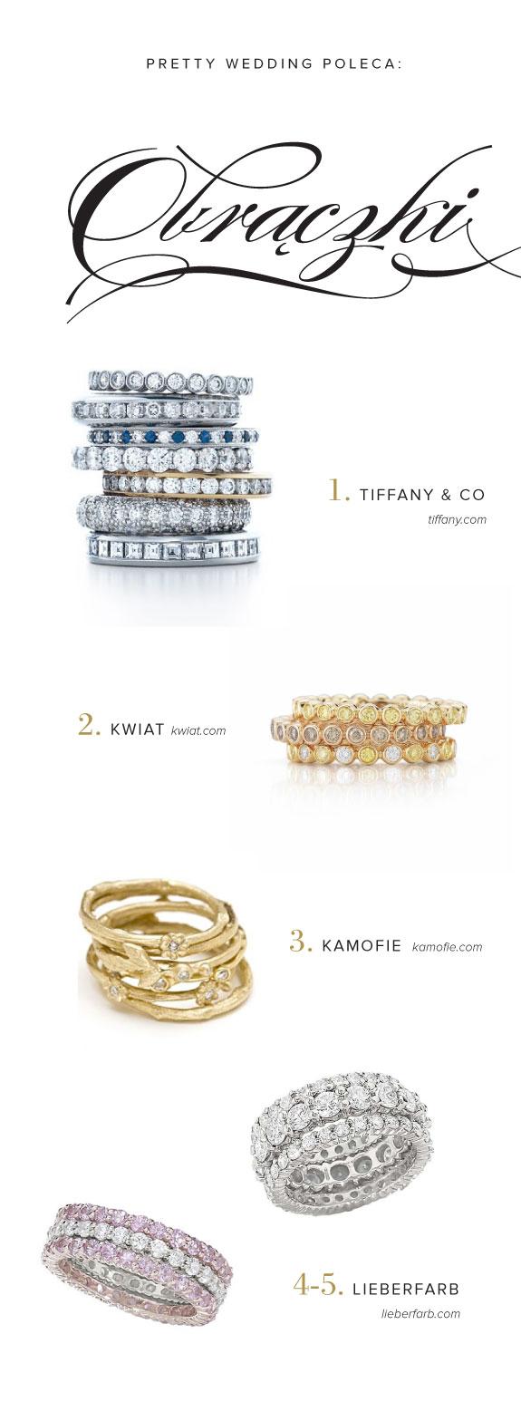 Obrączki Ślubne Zdobione Diamentami