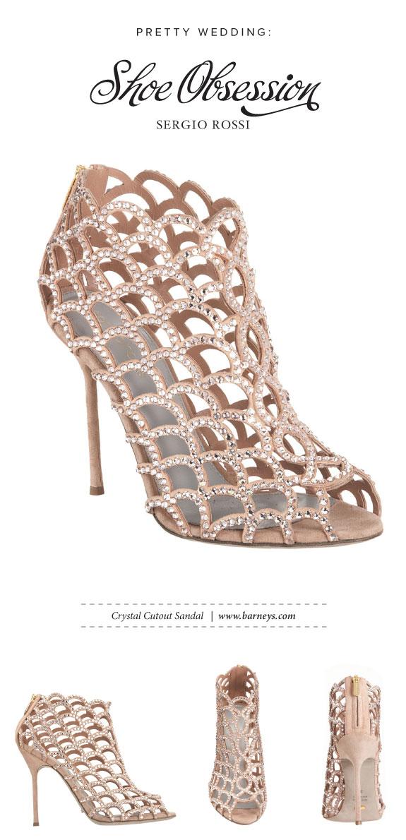 Buty do Ślubu z Kryształkami od Sergi Rossi