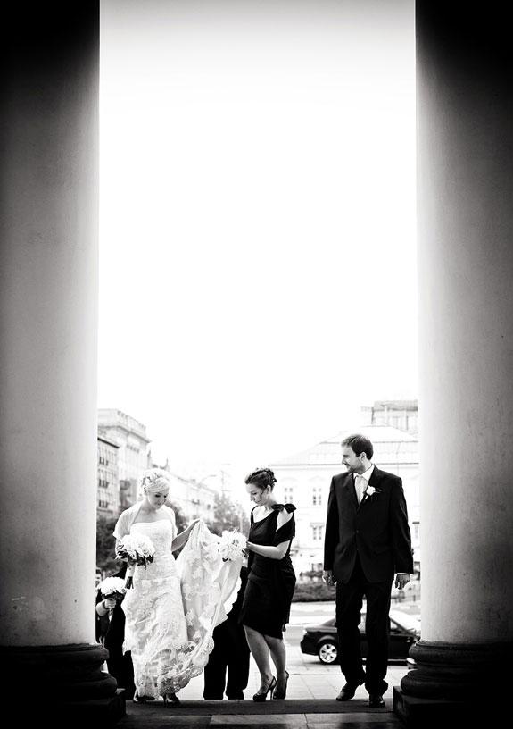 Czarno Białe Zdjęcie Ślubne