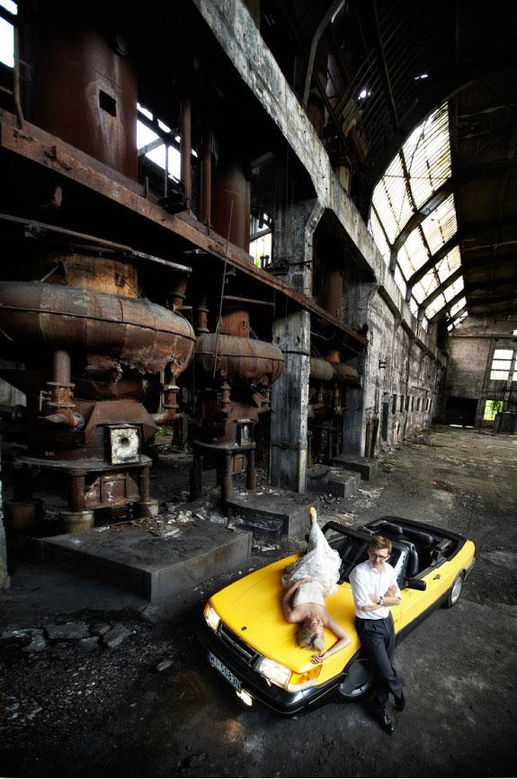 Plener Ślubny w opuszczonych halach Ursusa