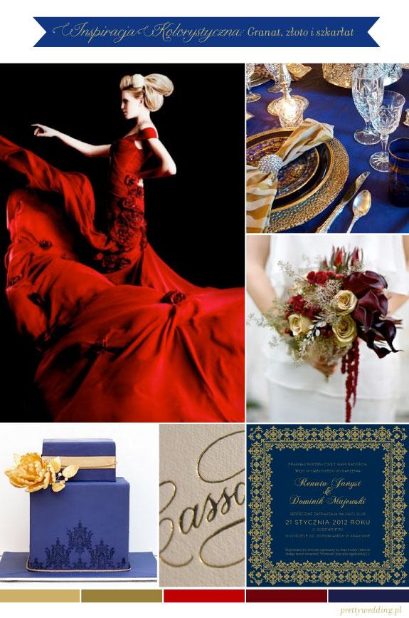 Pomysł na Kolorystykę Na Ślub: Szkarłat, Granat i Złoto
