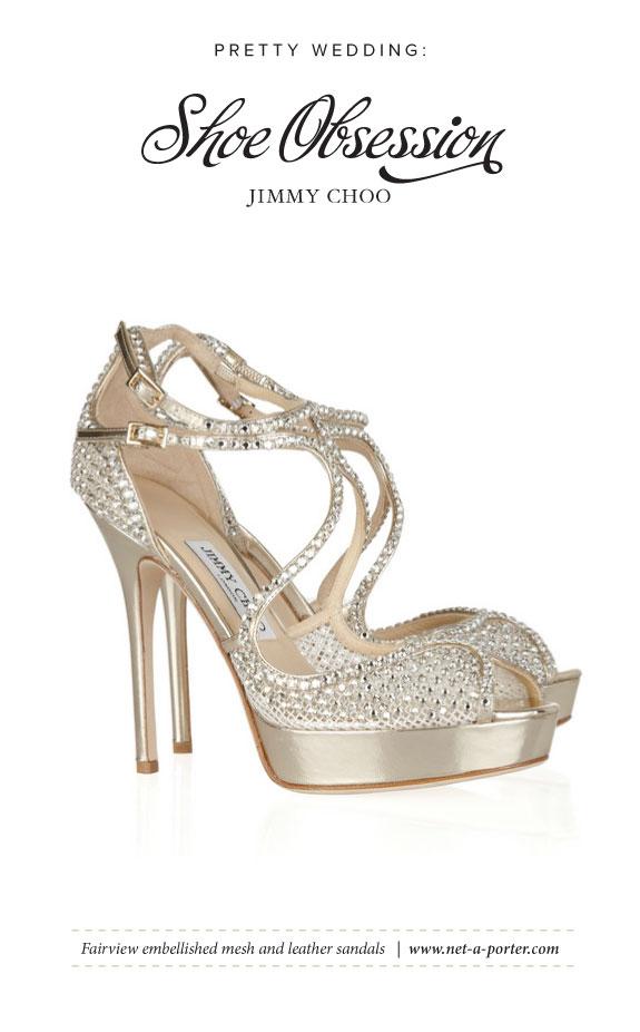 Sandałki na Ślub Wyszywane Kryształkami Swarovskiego od Jimmy Choo