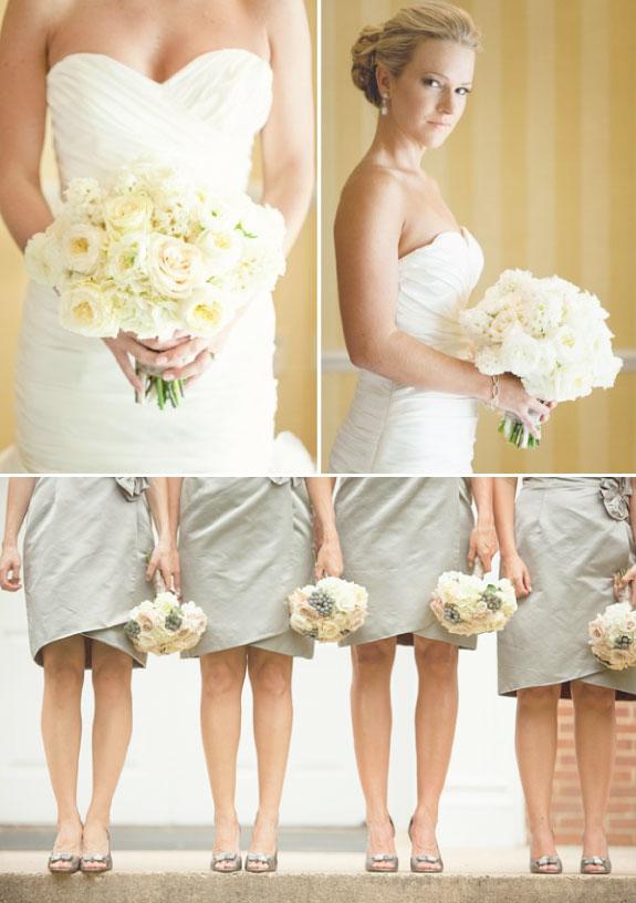 Przykłady Białych Bukietów Ślubnych