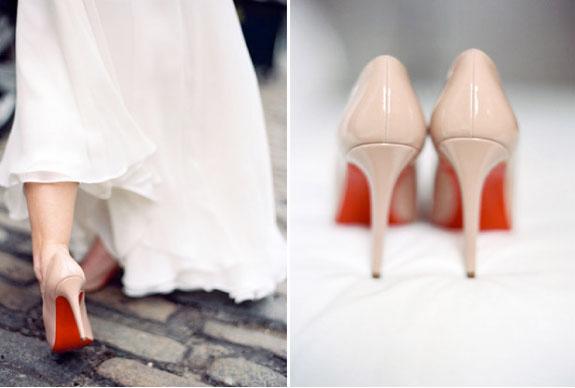 Szpilki na Ślub z Czerwoną Podeszwą