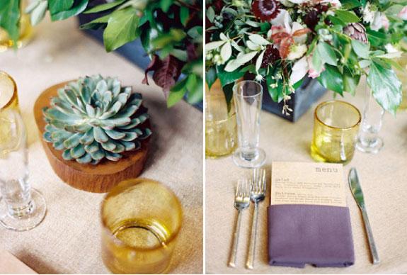 Przykład dekoracji stołów weselnych