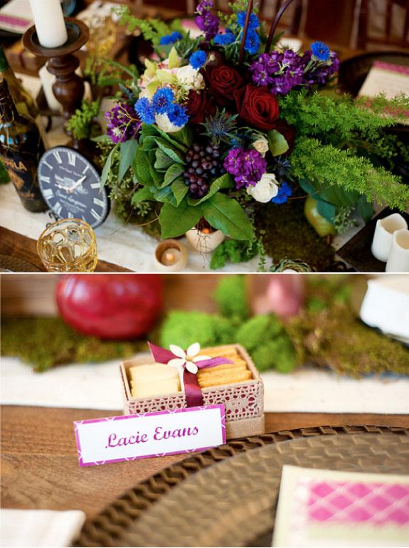 Kompozycje Kwiatowe Na stołach Weselnych i Różowe Winietki