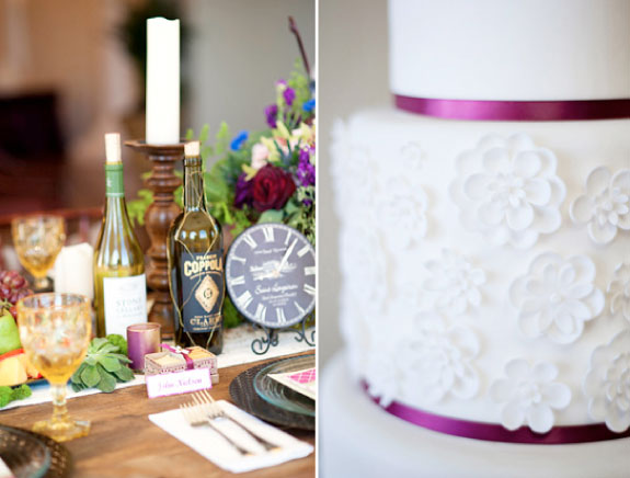 Piękny Biały Piętrowy Tort Zdobiony Drobnymi Kwiatuszkami