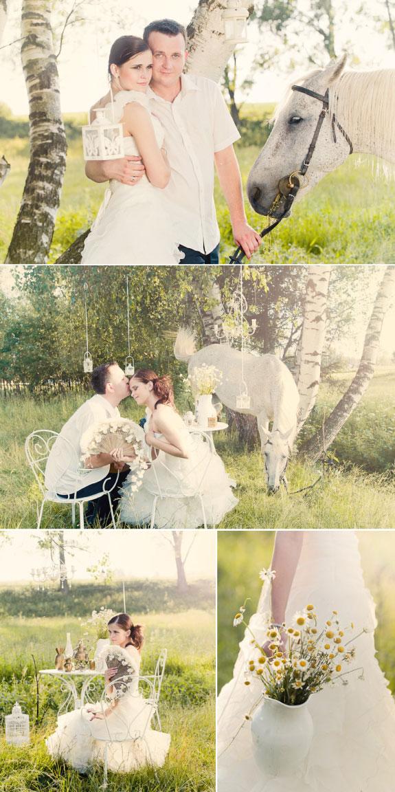 Piękne Zdjęcia Ślubne w Stadninie Koni