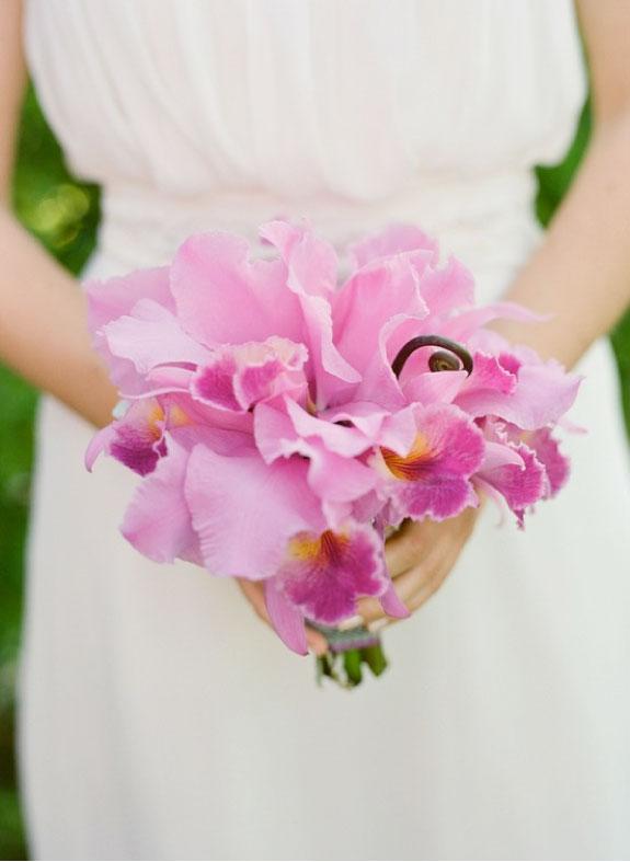 Bukiet Ślubny z Różowych Storczyków