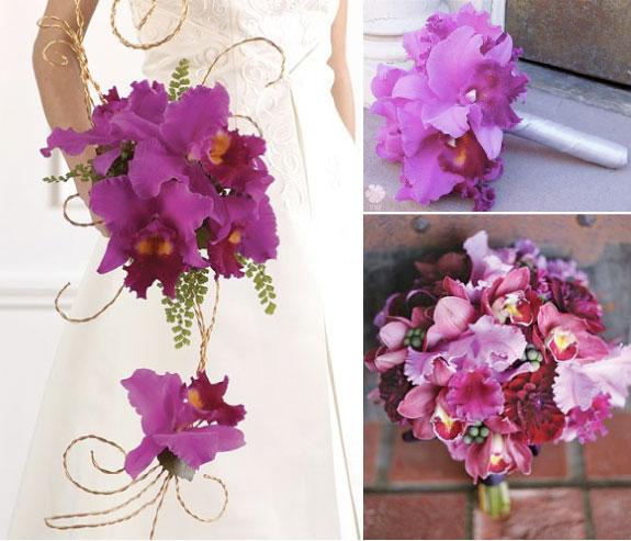 Bukiety Ze Storczyków w odcieniach bieli, różu, fioletu i purpury