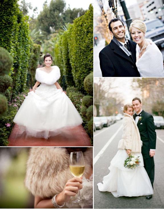 Szale Z Futerka, Dodatki Obszyte Futerkiem na Ślub
