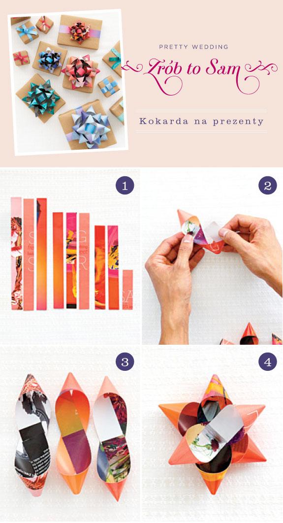 Jak zapakować prezent, jak zrobić kokardę na prezent