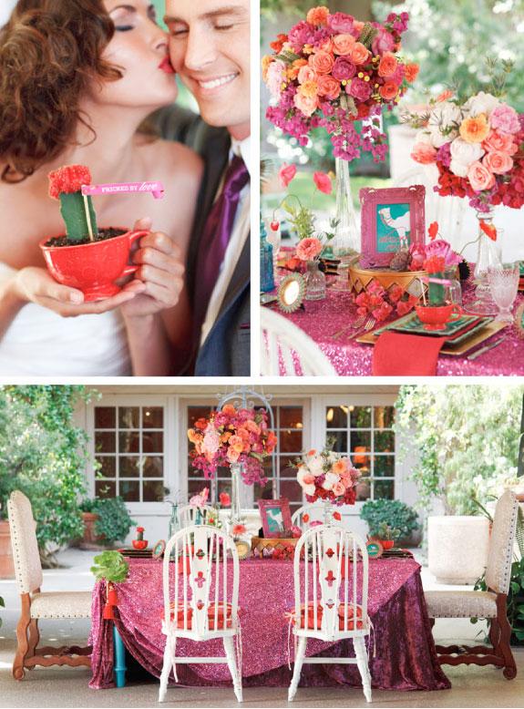 Ślub w kolorach turkusu, czerwieni i koralu