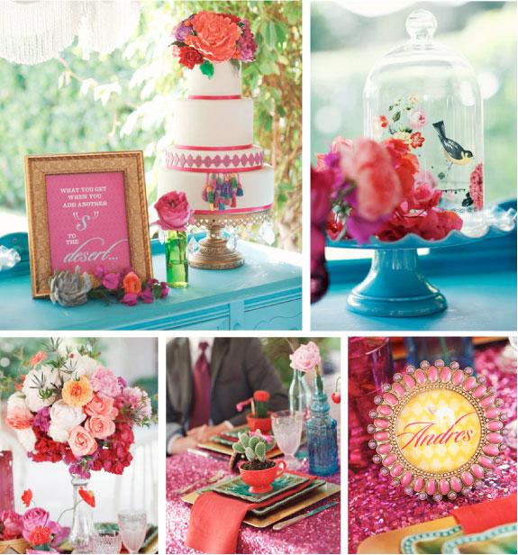 Kwiaty w Wysokich Wazonach i Wspaniały Piętrowy Tort