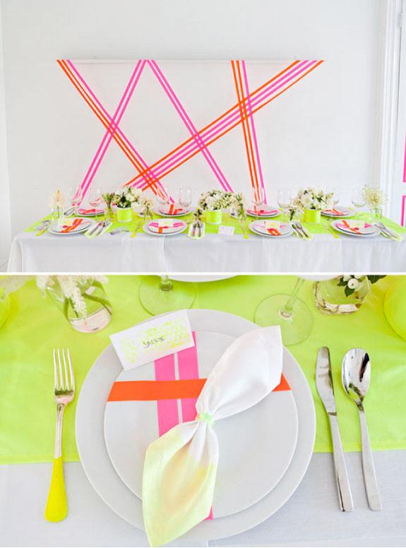 Dekoracje Ślubne w Jaskrawych Kolorach, Neonowe Dekoracje Ślubne