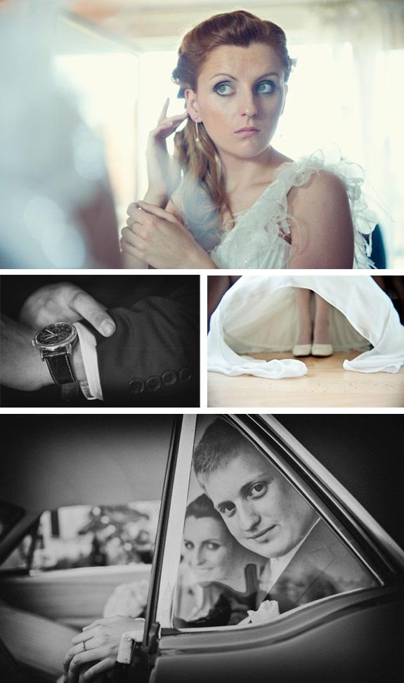 Przygotowania Do Ceremoni Ślubnej przez Pana i Panią Młodych