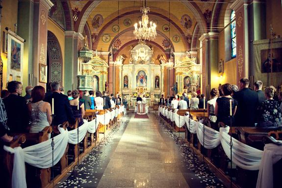 Zdjęcie Kościoła Podczas Ceremonii Ślubnej
