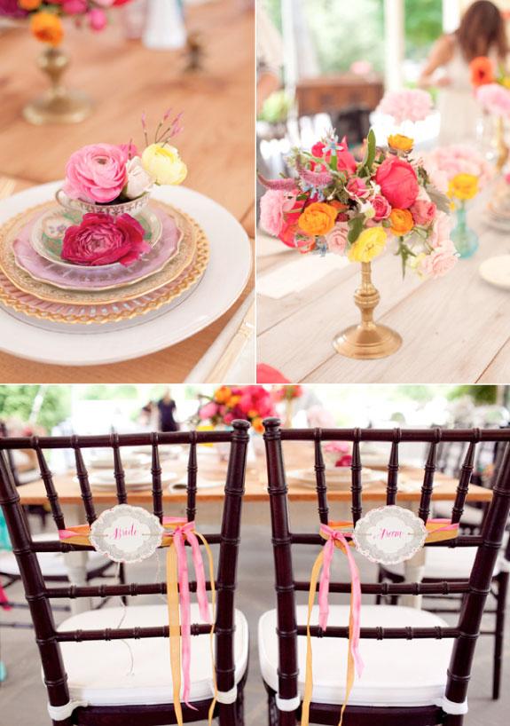Aranżacje Kwiatowe Na Stołach, Róże i Piwonie w Bukietach na Stołach