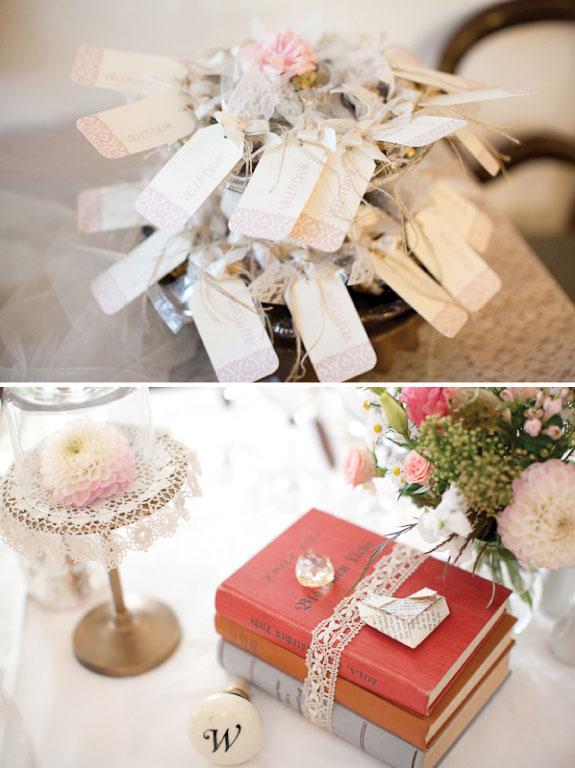 Dodatki ślubne w stylu vintage, dekoracje