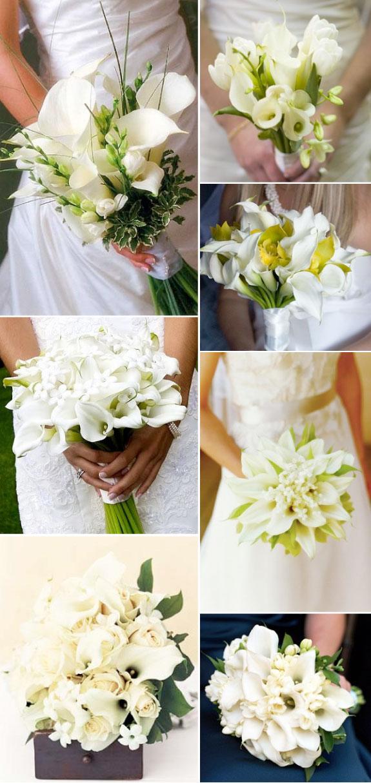 Pomysły na białe bukiety ślubne