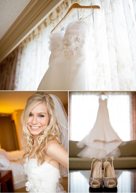 Biała Suknia Ślubna i Błyszczące Szpilki