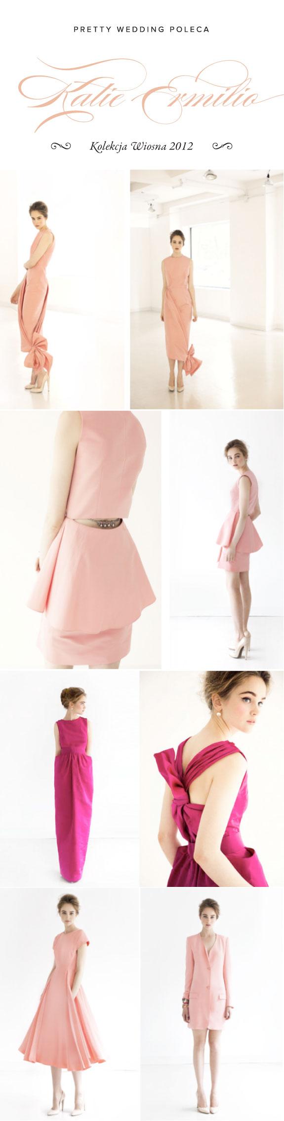 Różowe Suknie Ślubne Z Kolekcji Wiosna 2012