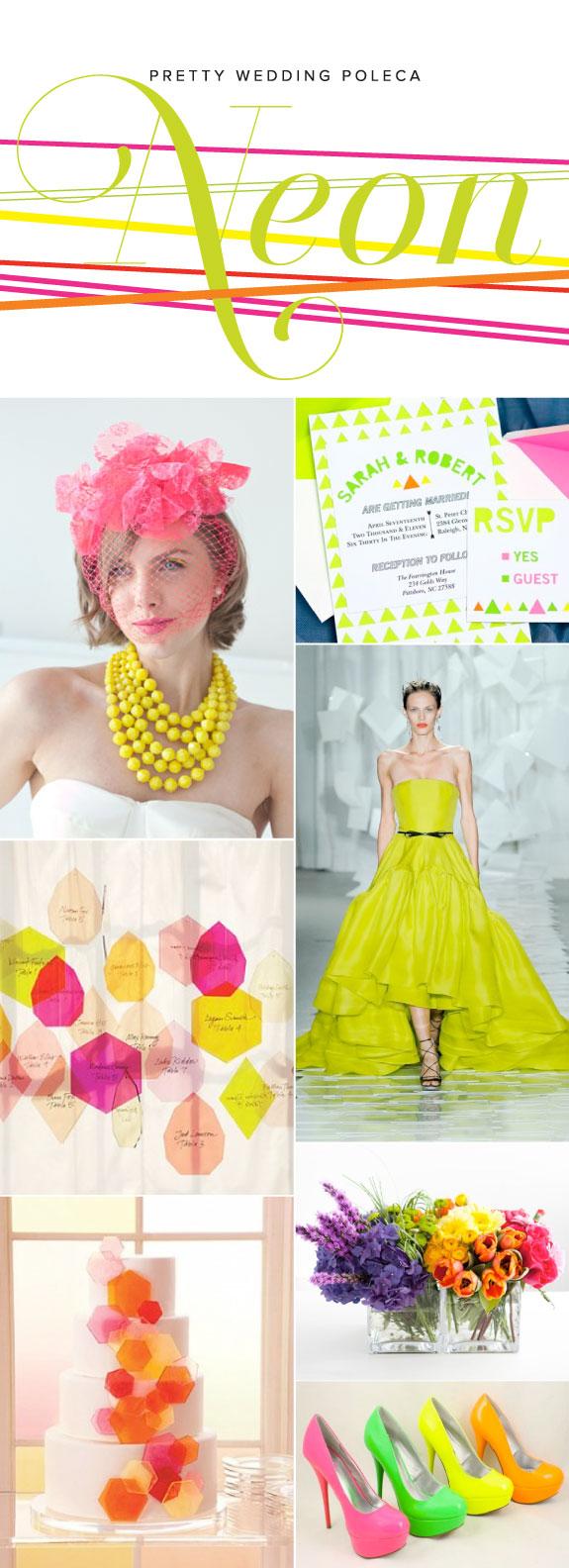 Inspiracja Kolorystyczna na Ślub i Wesele: Neonowe Kolory