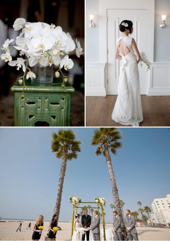 Białe Storczyki na Ślubie, Żywe Kwiaty We Włosach