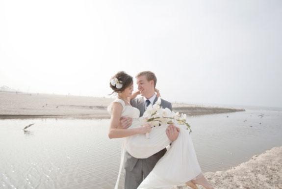 Bukiet Ślubny z Białych Storczyków