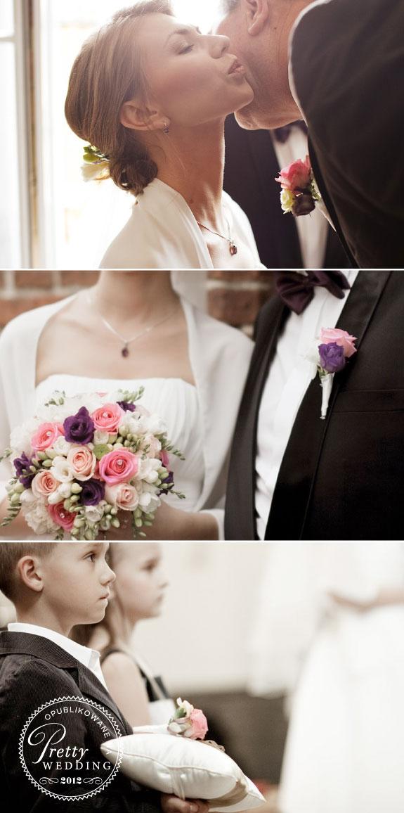 Różowo Fioletowa Kolorystyka Na Weselu
