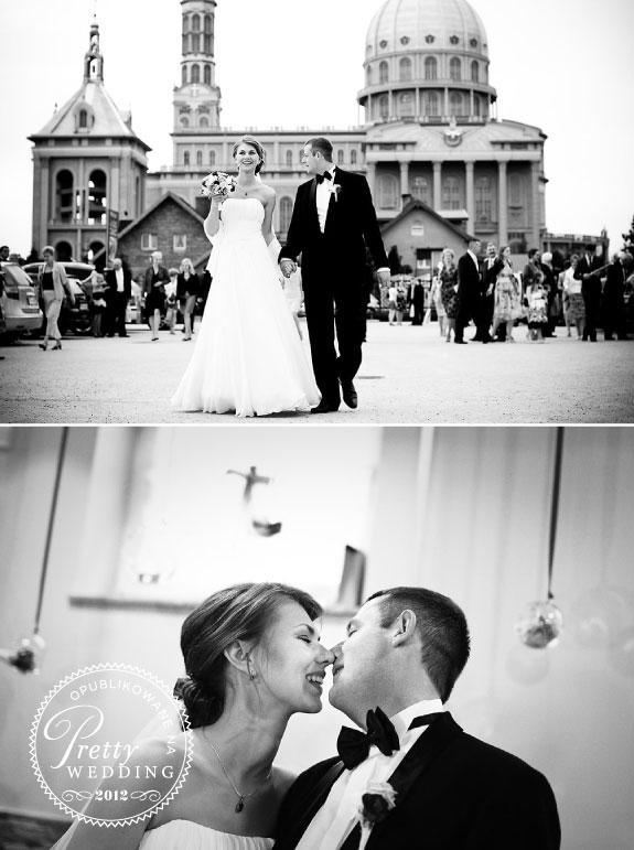 Czarno Białe Zdjęcia Ślubne Ali i Pawła W Licheniu