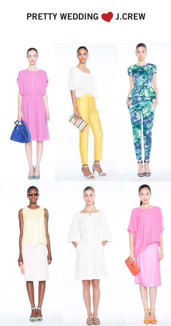 kolekcje ubrań w kolorach żółtego, mandarynki i zielonego