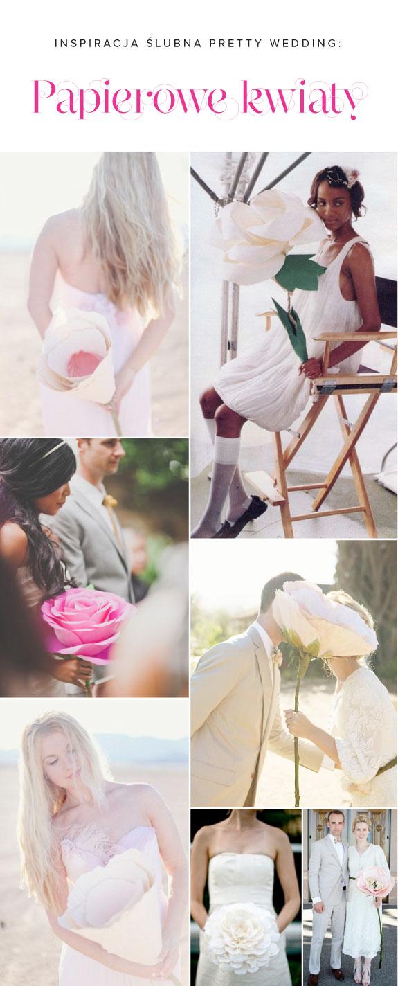 Ispiracje Ślubne - Olbrzymie Papierowe Kwiaty