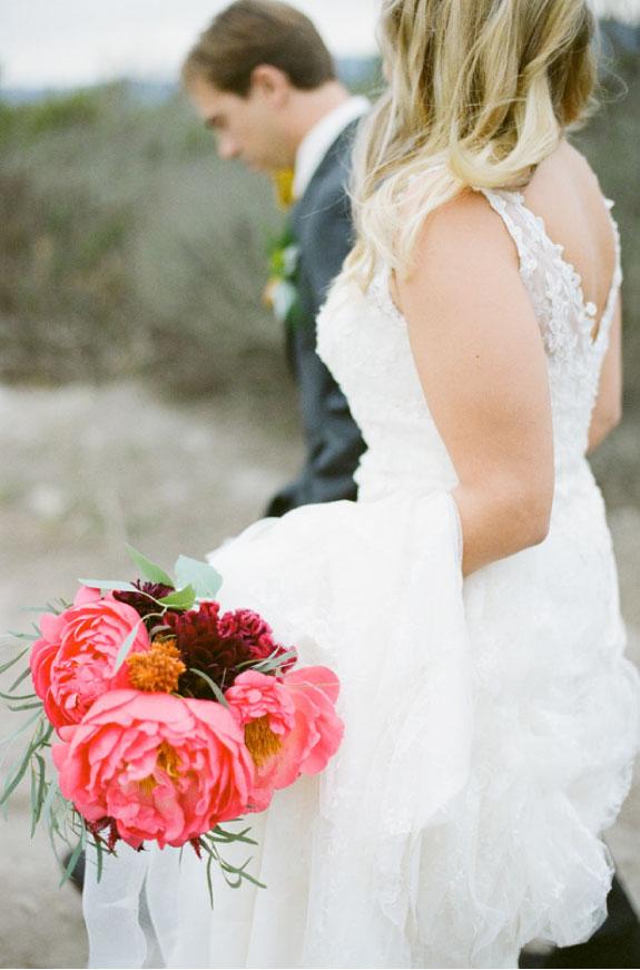 Bukiet Ślubny z Różowych Piwonii